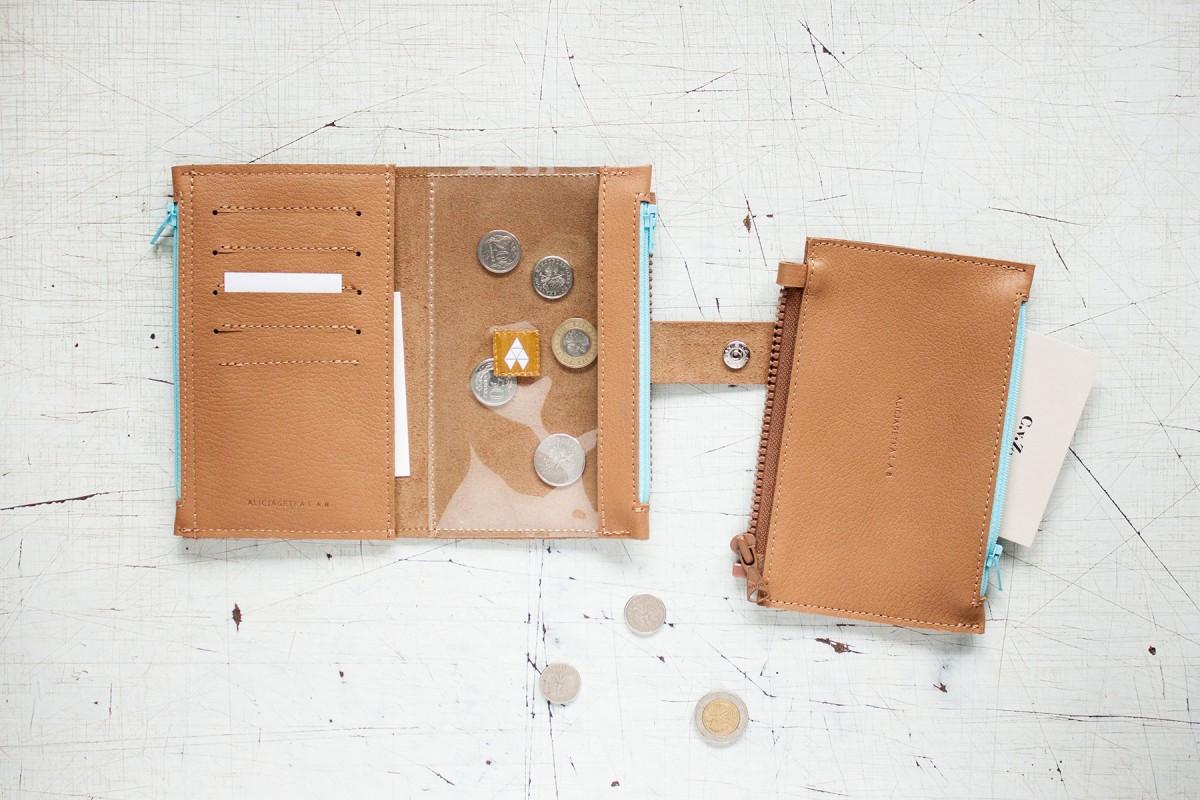 Portfel Pocket BIG Caramel SKY - Alicja Getka lab