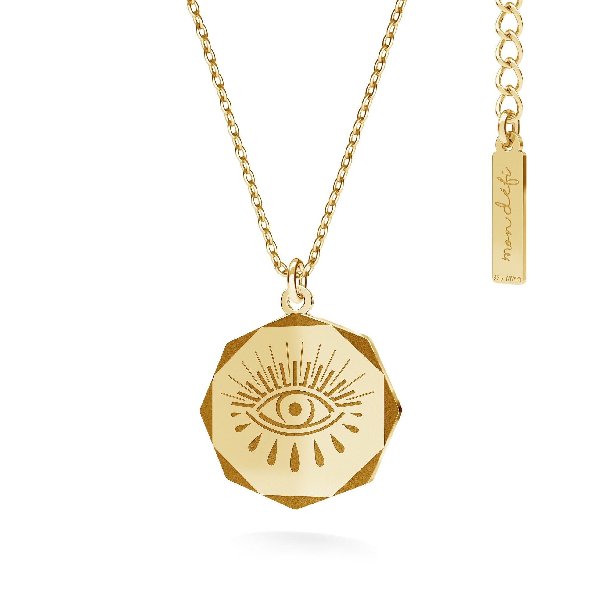Naszyjnik medalion oko Horusa MON DÉFI srebro 925 - Mon Defi   JestemSlow.pl