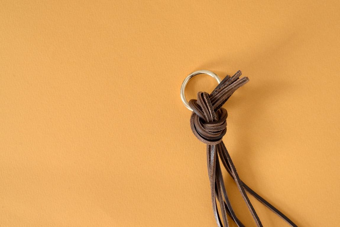 Skórzany kwietnik wiszący Lade #4 ciemnobrązowy - Steil