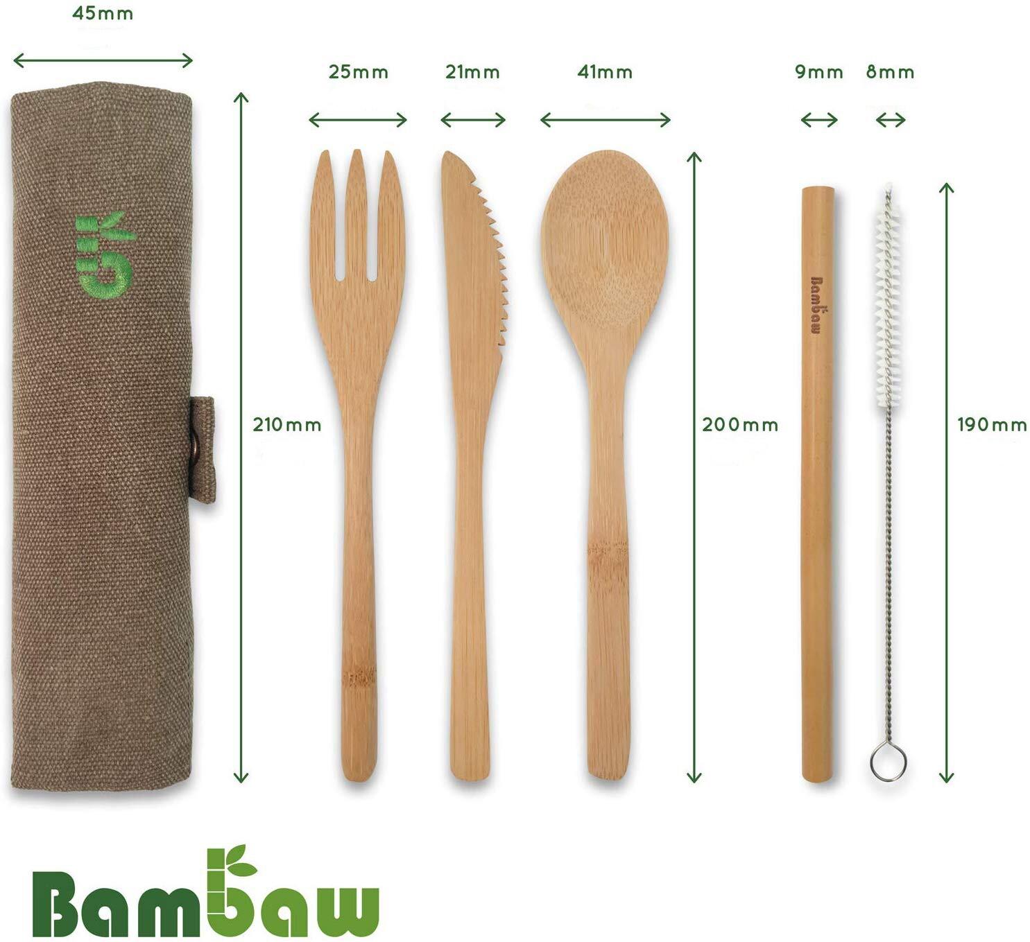 Wielorazowe sztućce bambusowe - SAKWABAG | JestemSlow.pl
