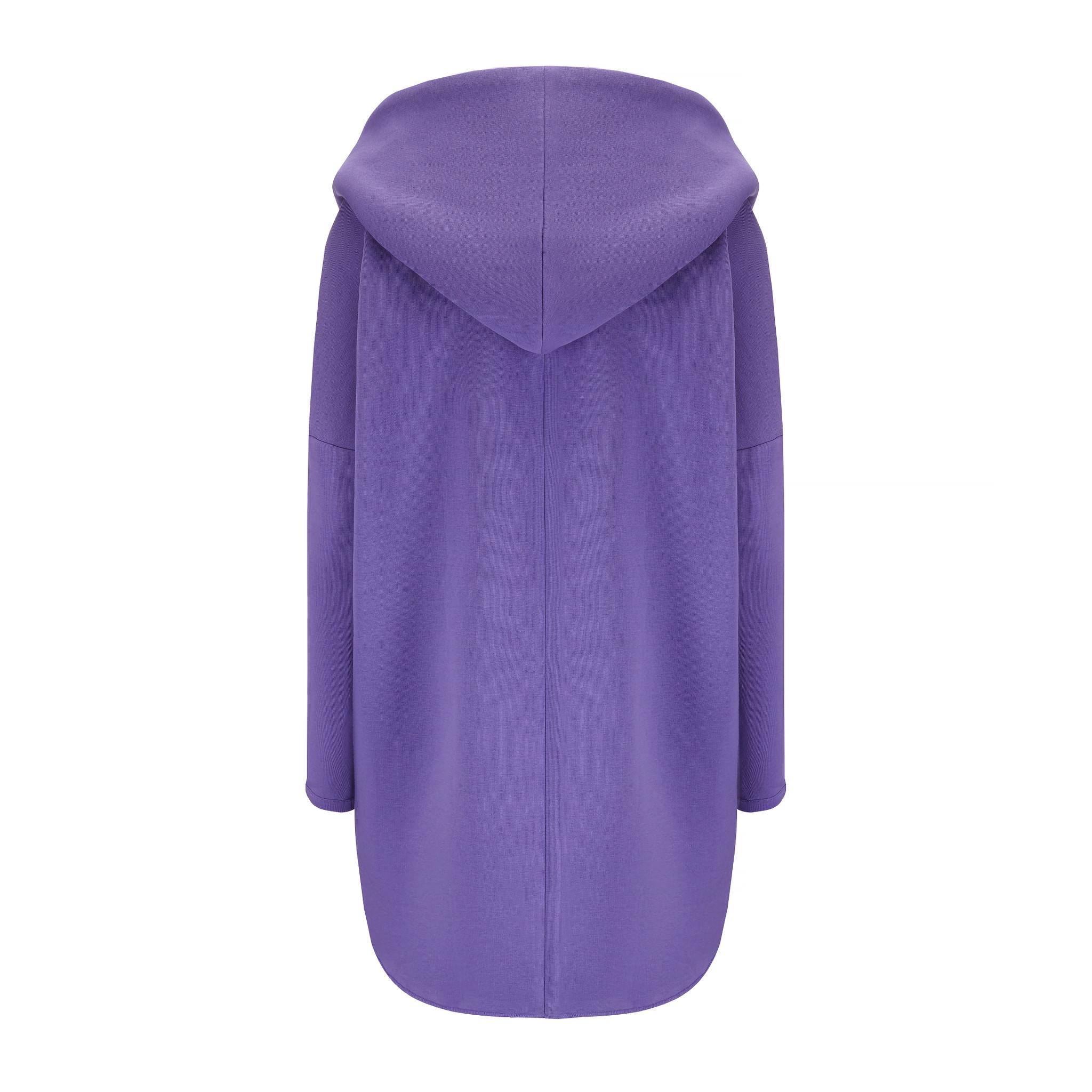 Ciepła peleryna z kapturem w kolorze fioletowym MKTP - Slow Store | JestemSlow.pl
