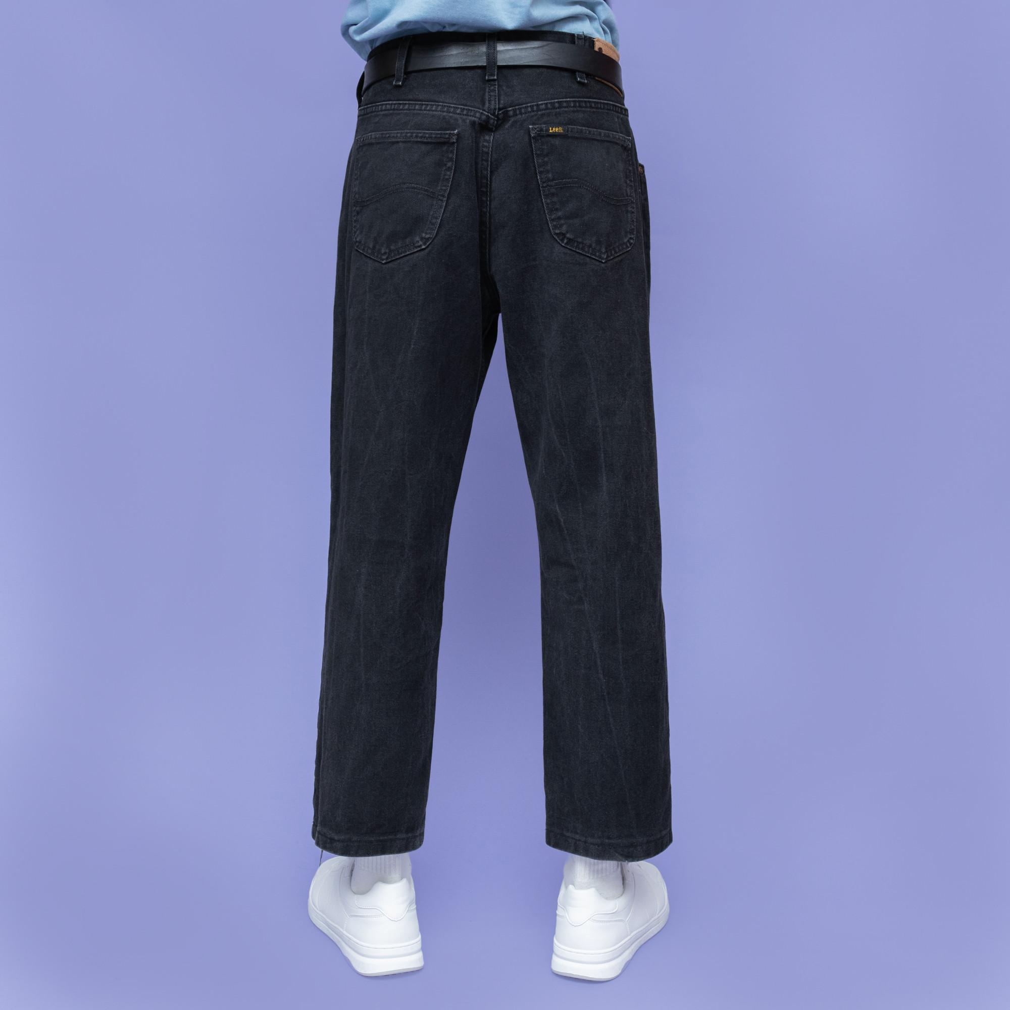 Czarne jeansy marki Lee - KEX Vintage Store | JestemSlow.pl