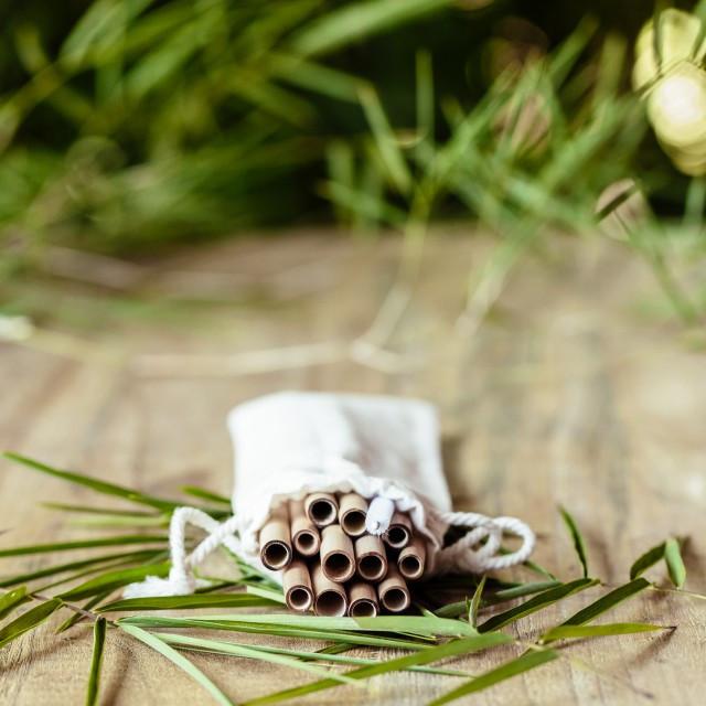 Bambusowe słomki do napojów - 12 sztuk - COCOBAMBOO