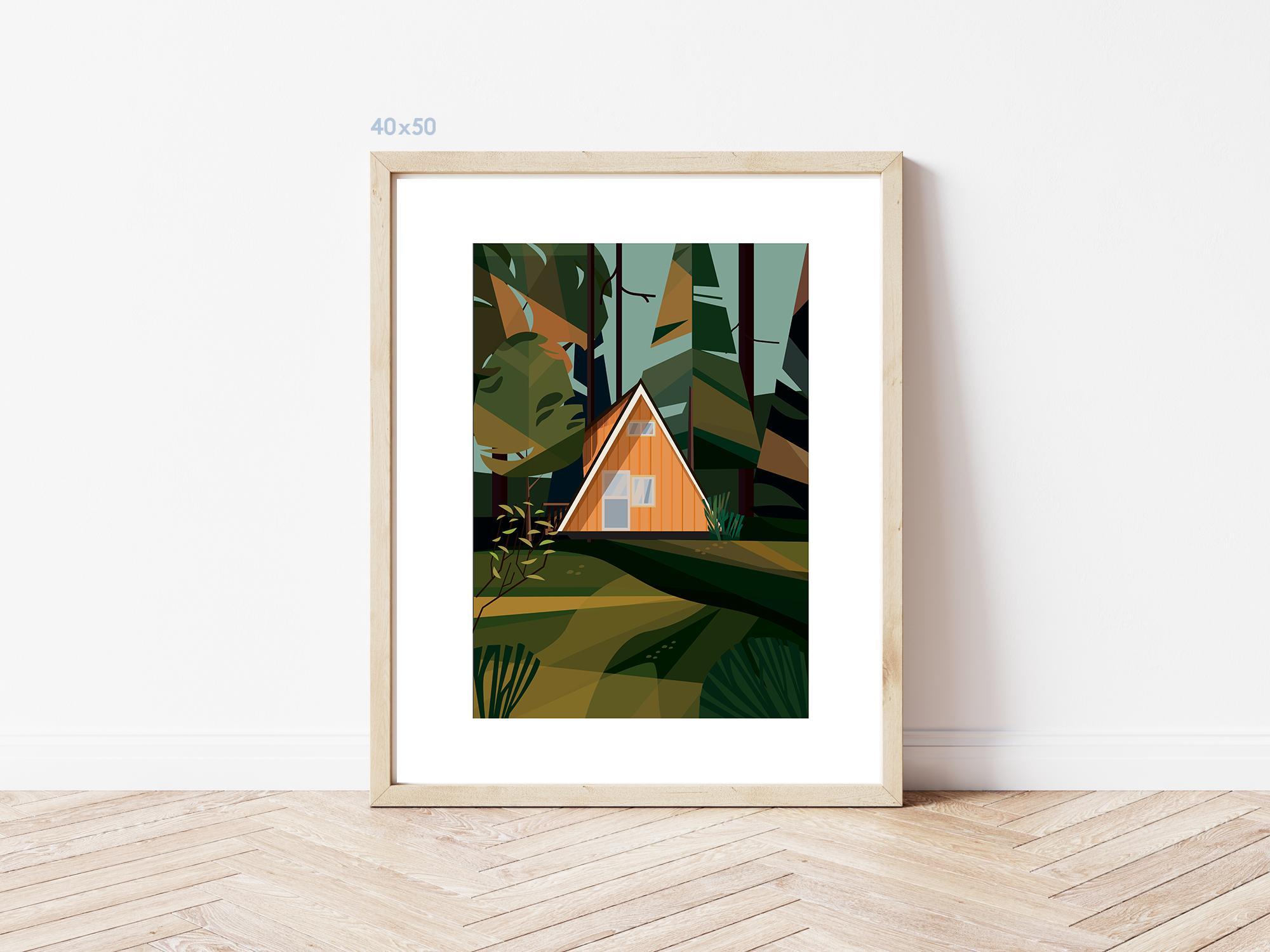 Kaśka - plakat Ucieczka za miasto - KABAK