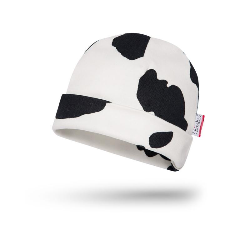 Bawełniana czapeczka niemowlęca - Krowa - BIMBS