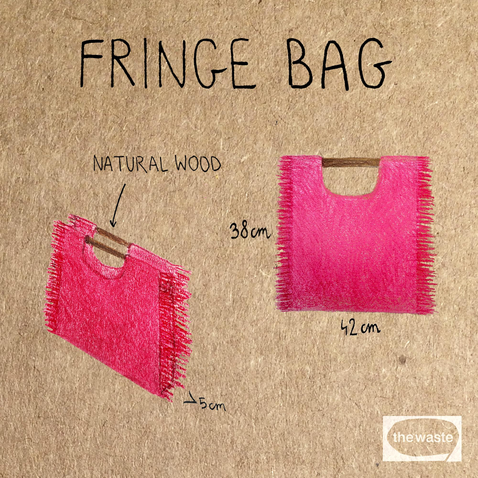 THE FRINGE BAG - light blue torba letnia miejska niebieska polski projektant- The Waste
