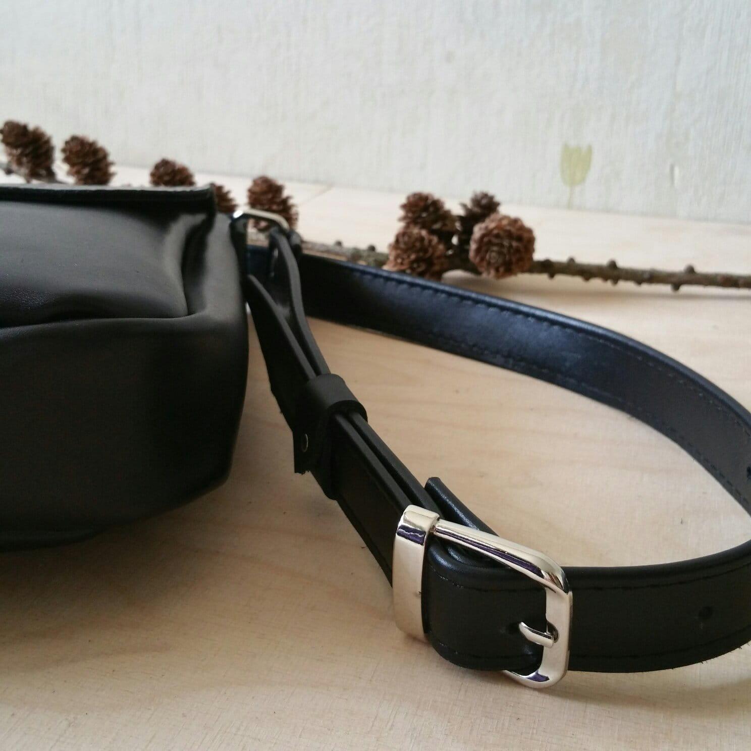 Torebka RETRO - czarna - klapa KROKODYL ( okucia srebrne ) - ZOSIA Z LASU | JestemSlow.pl
