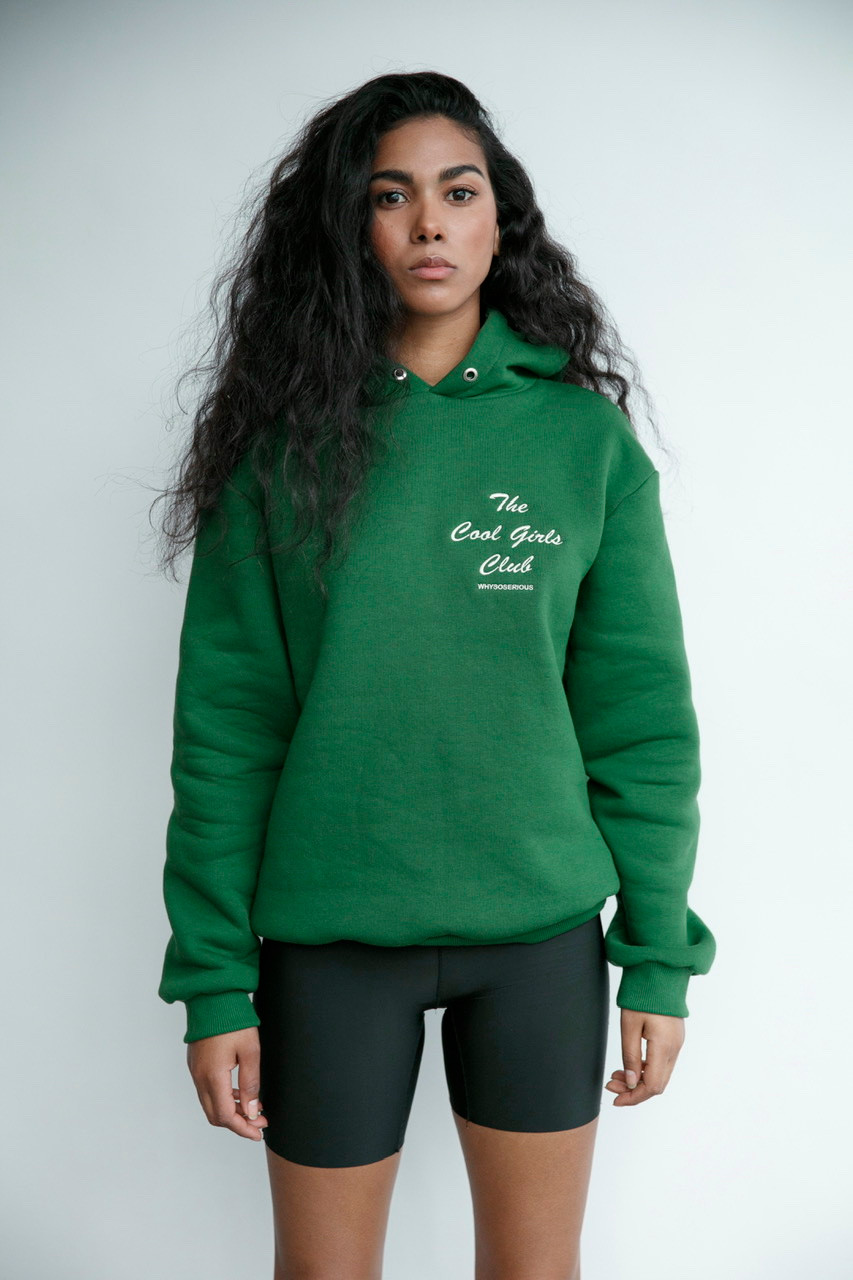 Club Green Hoodie - whysoserious | JestemSlow.pl