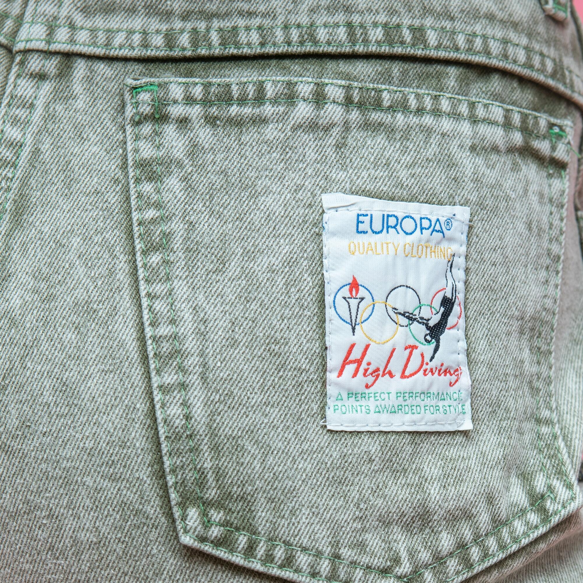 Marmurkowe jeansy w kolorze pistacji - KEX Vintage Store | JestemSlow.pl