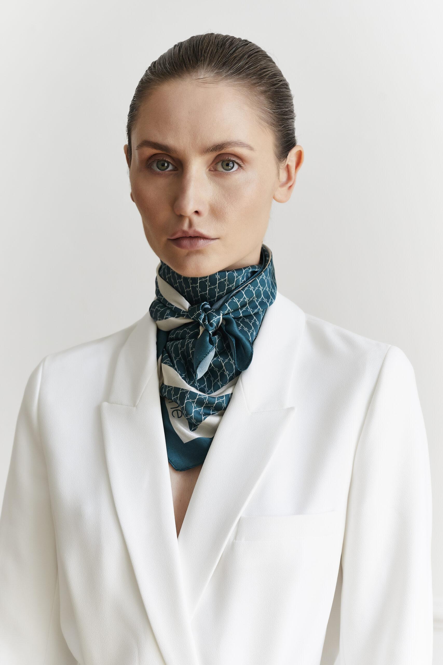 Jedwabna apaszka Sine Silk | GREEN - Sine Silk | JestemSlow.pl