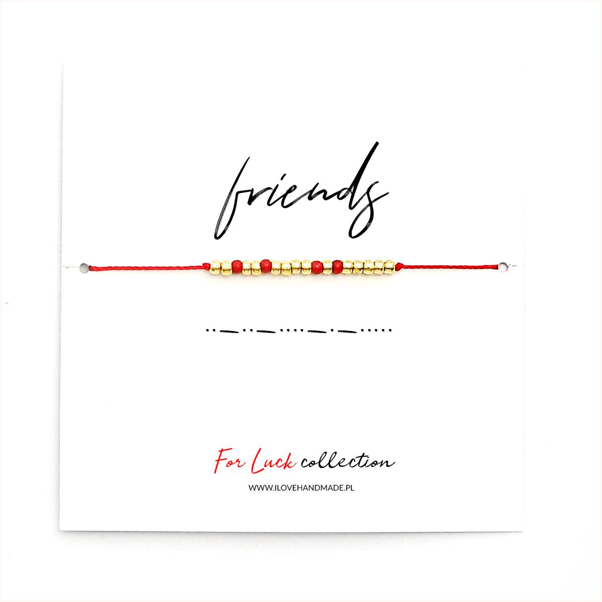 Bransoletka For Luck - FRIENDS - złota - ilovehandmade