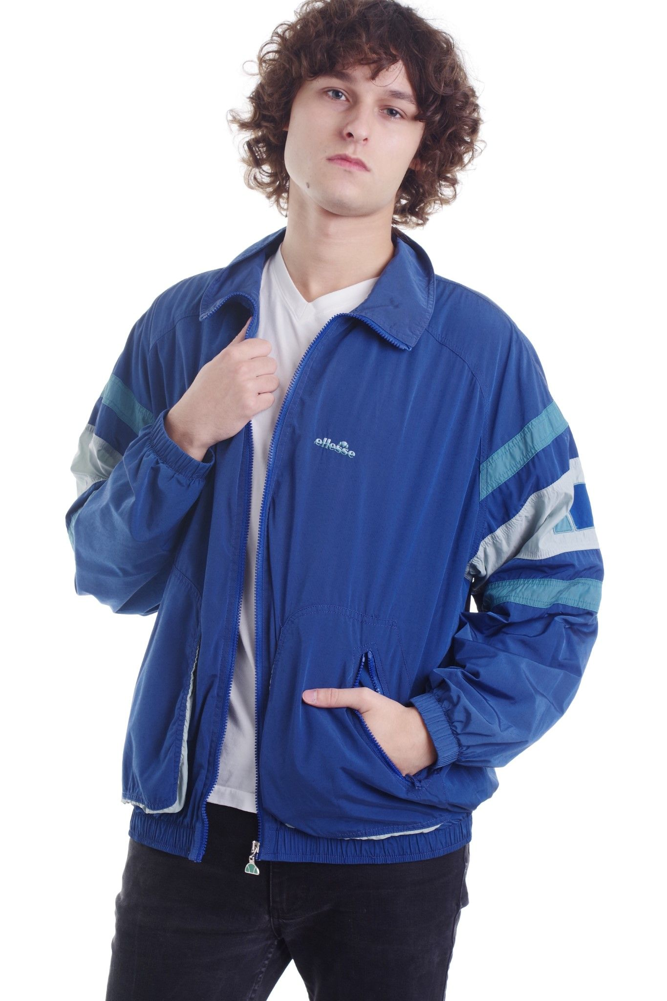 Ciemnoniebieska kurtka marki Ellesse - KEX Vintage Store | JestemSlow.pl