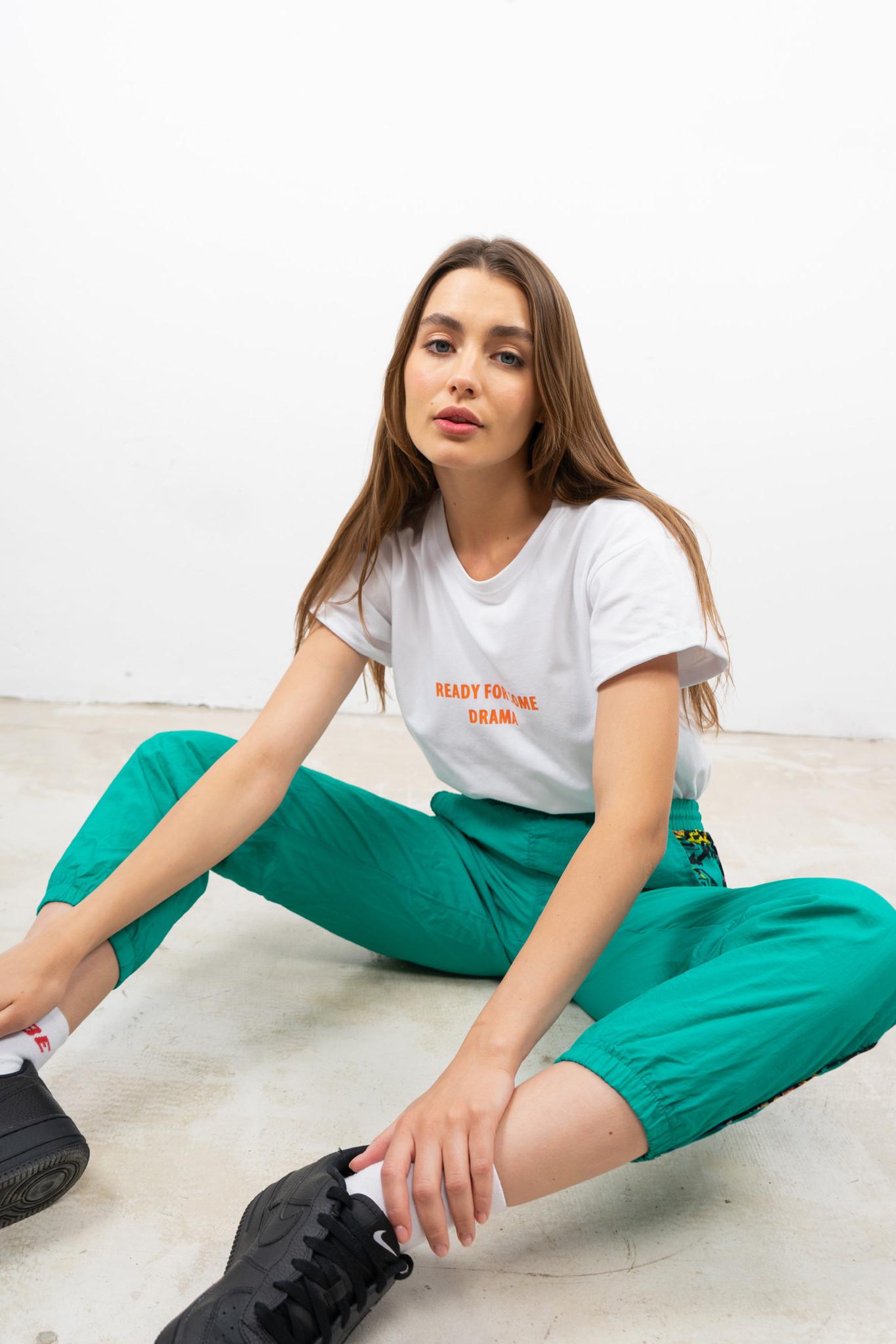 Biała koszulka nadruk Drama White Oversized T-shirt - whysoserious | JestemSlow.pl