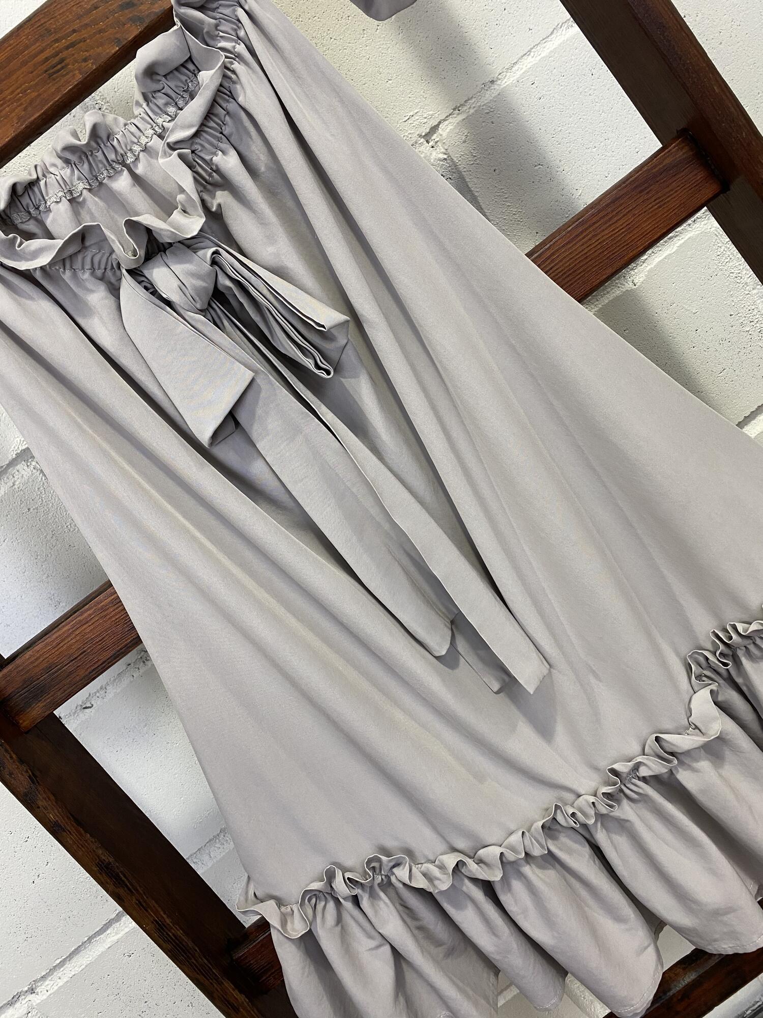 Szaropastelowa luźna sukienka ala hiszpanka BY O LA LA...! - Vintage Store   JestemSlow.pl