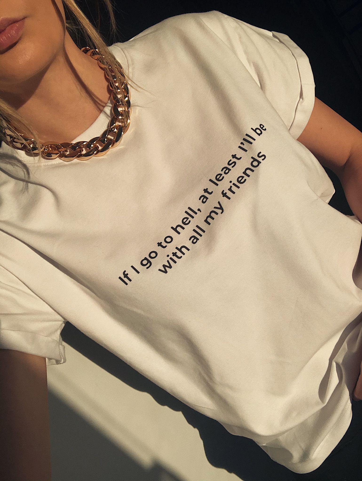 Biała koszulka z nadrukiem Friends T-shirt - whysoserious