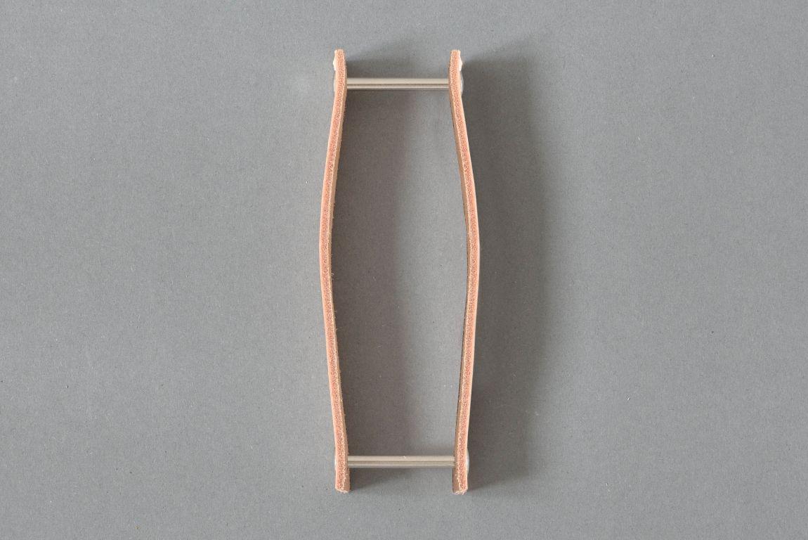 Skórzany uchwyt drzwiowy Lade #3 naturalny - Steil