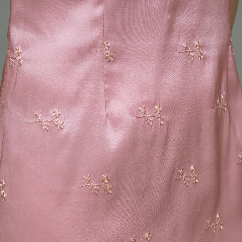 Różowa sukienka w chińskim stylu - KEX Vintage Store | JestemSlow.pl