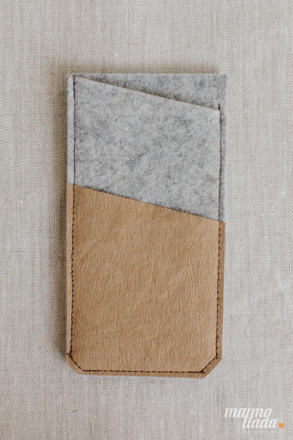 marmollada - etui filcowe NA TELEFON z piaskowymi dodatkami - Marmollada