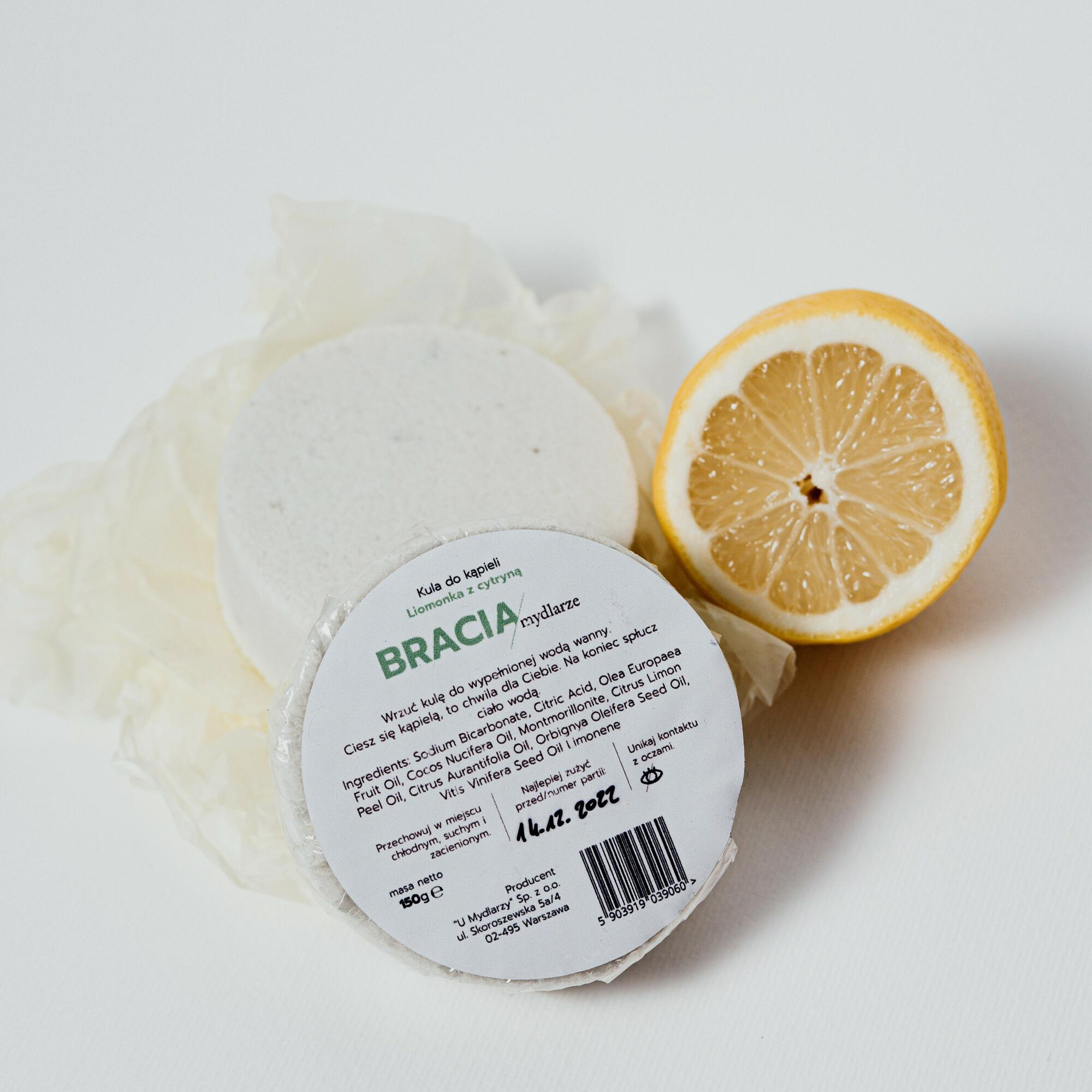 Limonka z cytryną | kula do kąpieli - Bracia Mydlarze | JestemSlow.pl