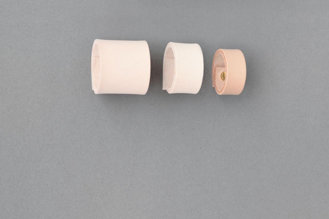 Skórzany uchwyt meblowy Lade Om #3 naturalny 15 mm - Steil