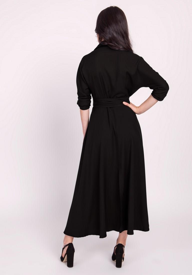 Długa sukienka, SUK172 czarny - Lanti