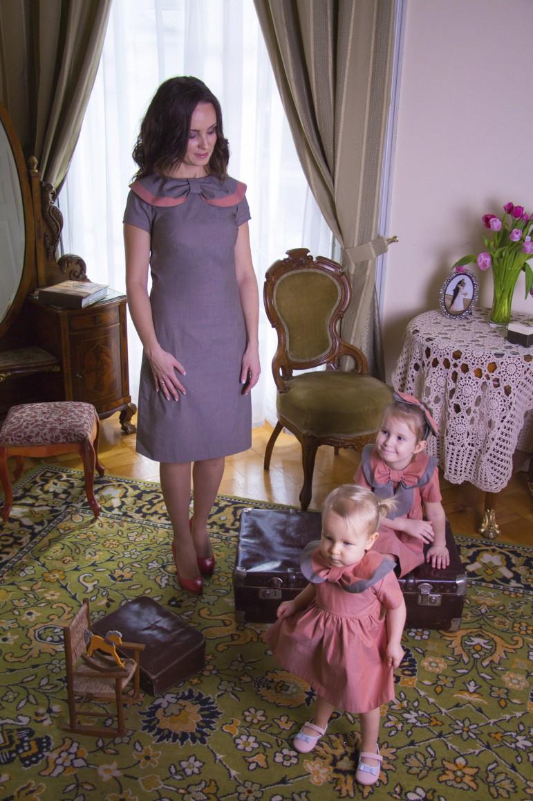 Komplet mama i córka Retro - Lovemade | JestemSlow.pl