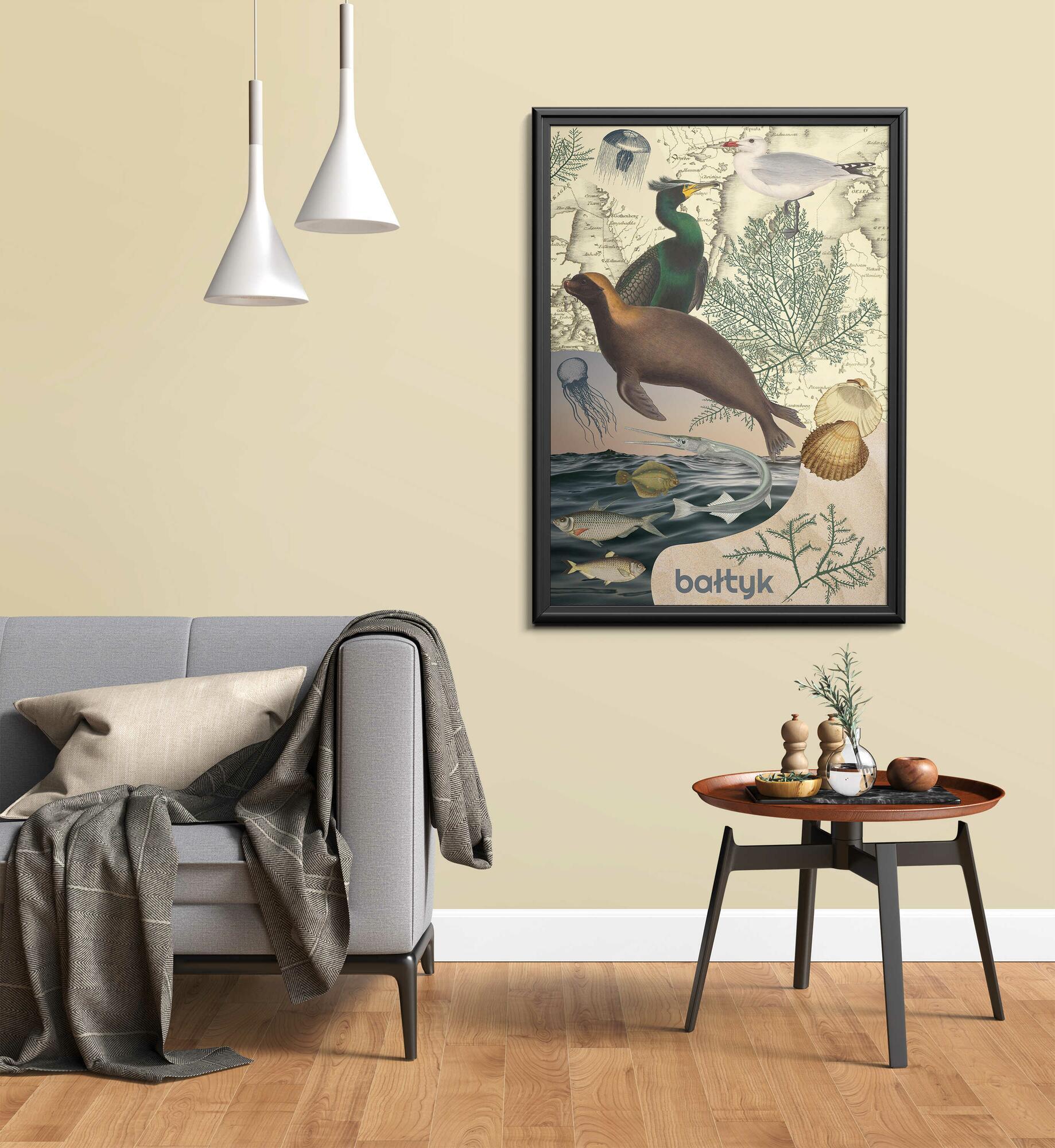 Plakat Bałtyk - Glowacka.Studio - 50x70cm - Glowacka.Studio   JestemSlow.pl