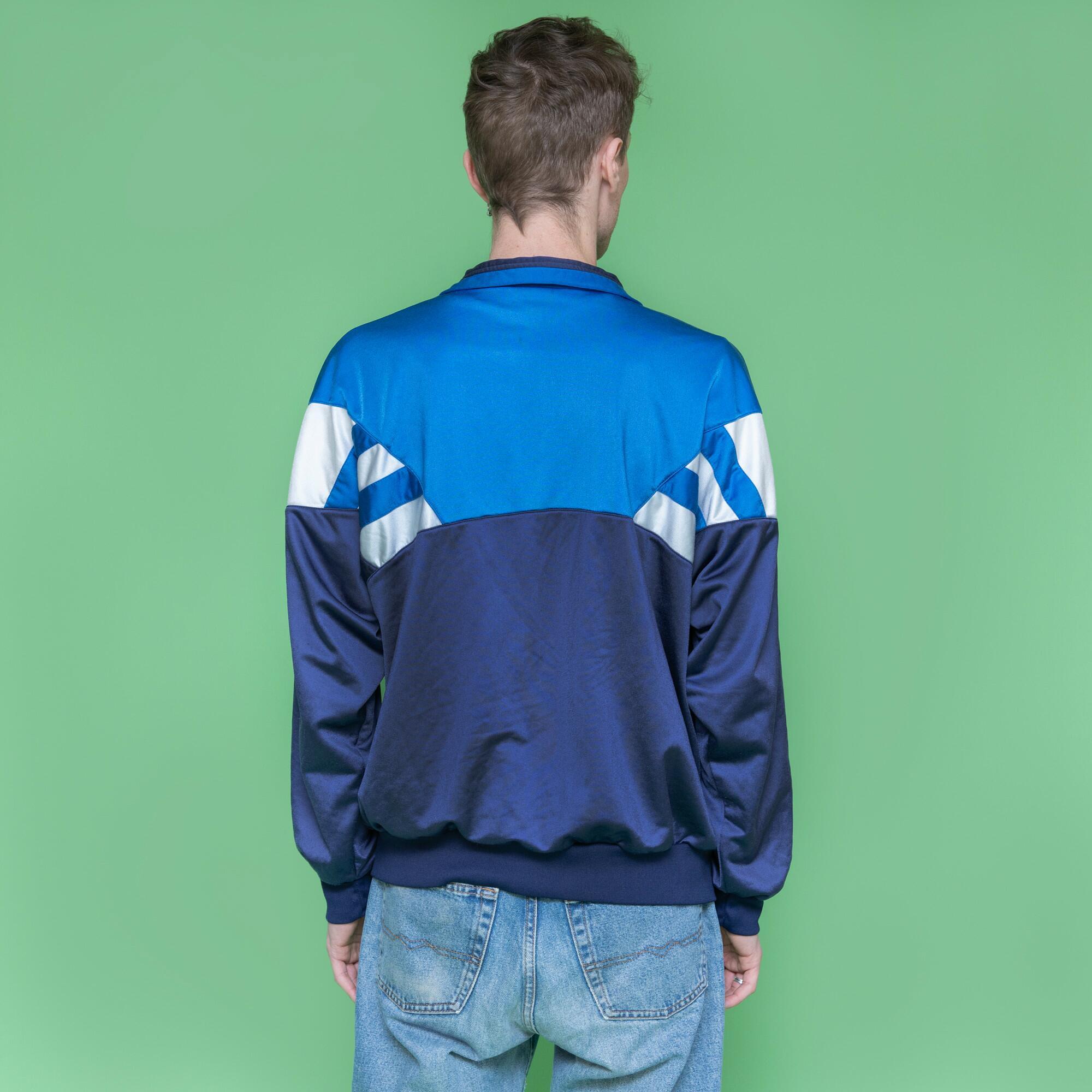 Niebieska bluza na suwak marki Hummel - KEX Vintage Store   JestemSlow.pl