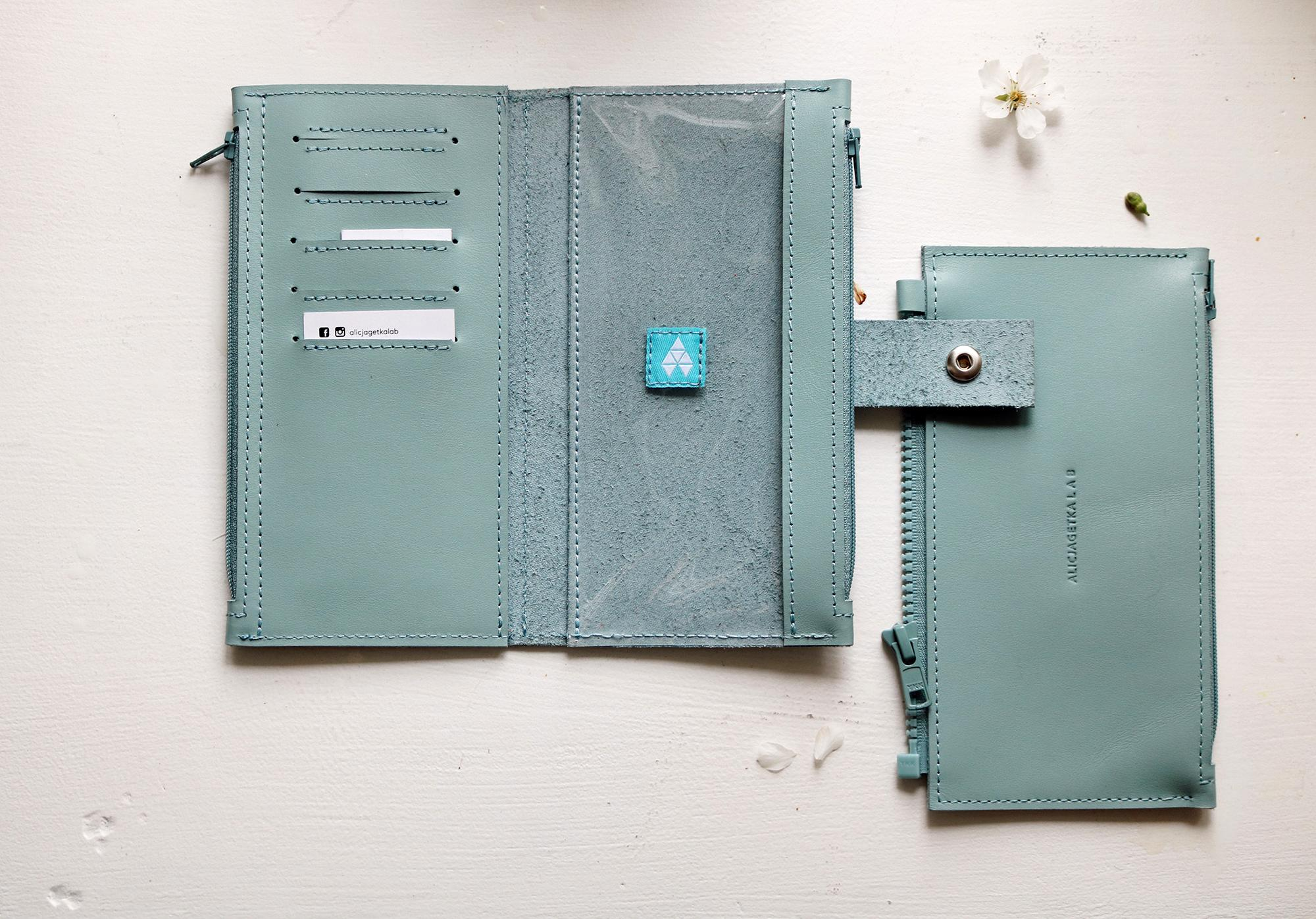 Portfel Pocket MAXI Sky Blue - Alicja Getka lab
