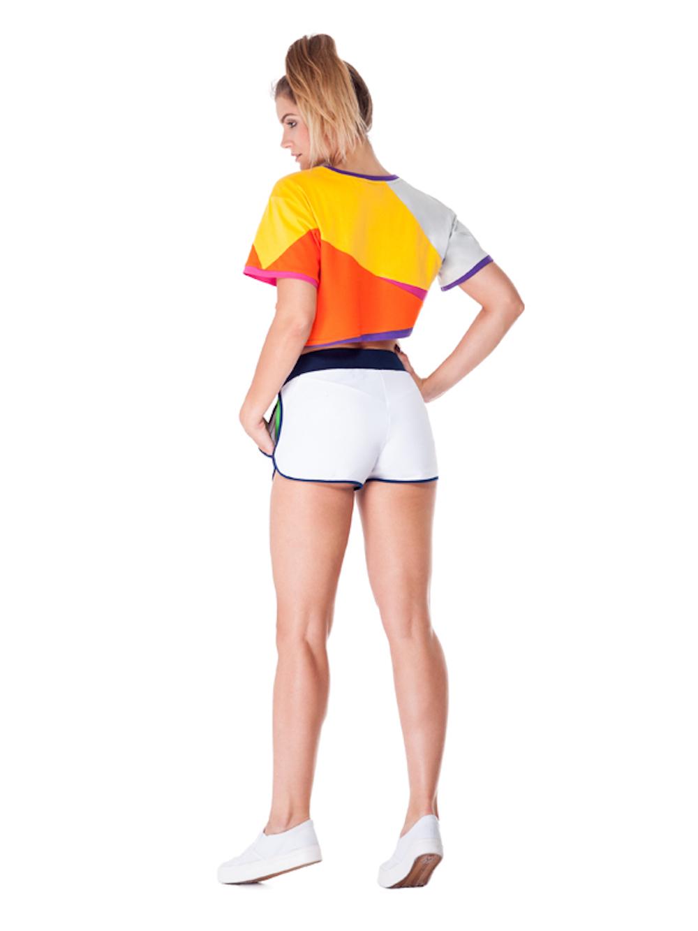 Serpens Board Shorts (White) - Okuaku
