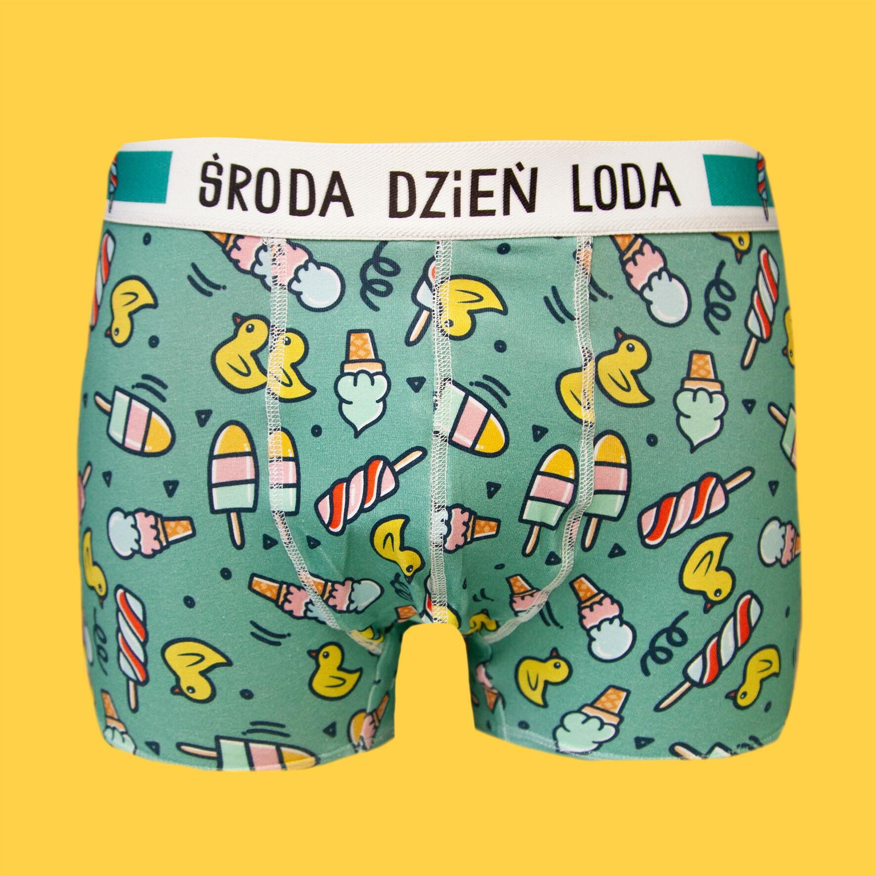 Środa Dzień Loda - Bokserki bawełniane męskie Kaczuszki - Majtki z Sosnowca by After Panty | JestemSlow.pl