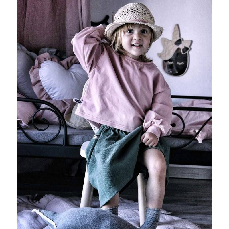 Bluza oversize brudny róż Rozmiar - Mizerki Kids