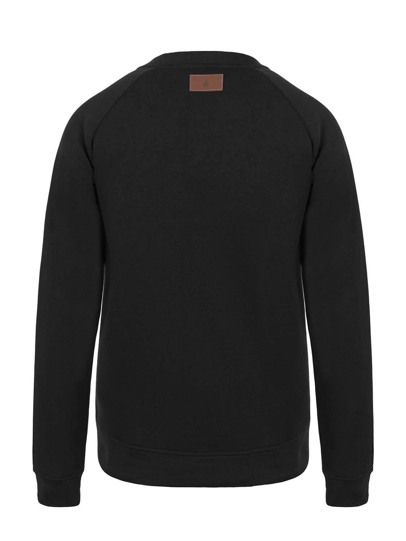 Bluza NEVER STOP EXPLORING  czarna bluza  z nadrukiem  bawełniana bluza ekologiczna bluza - Forest People