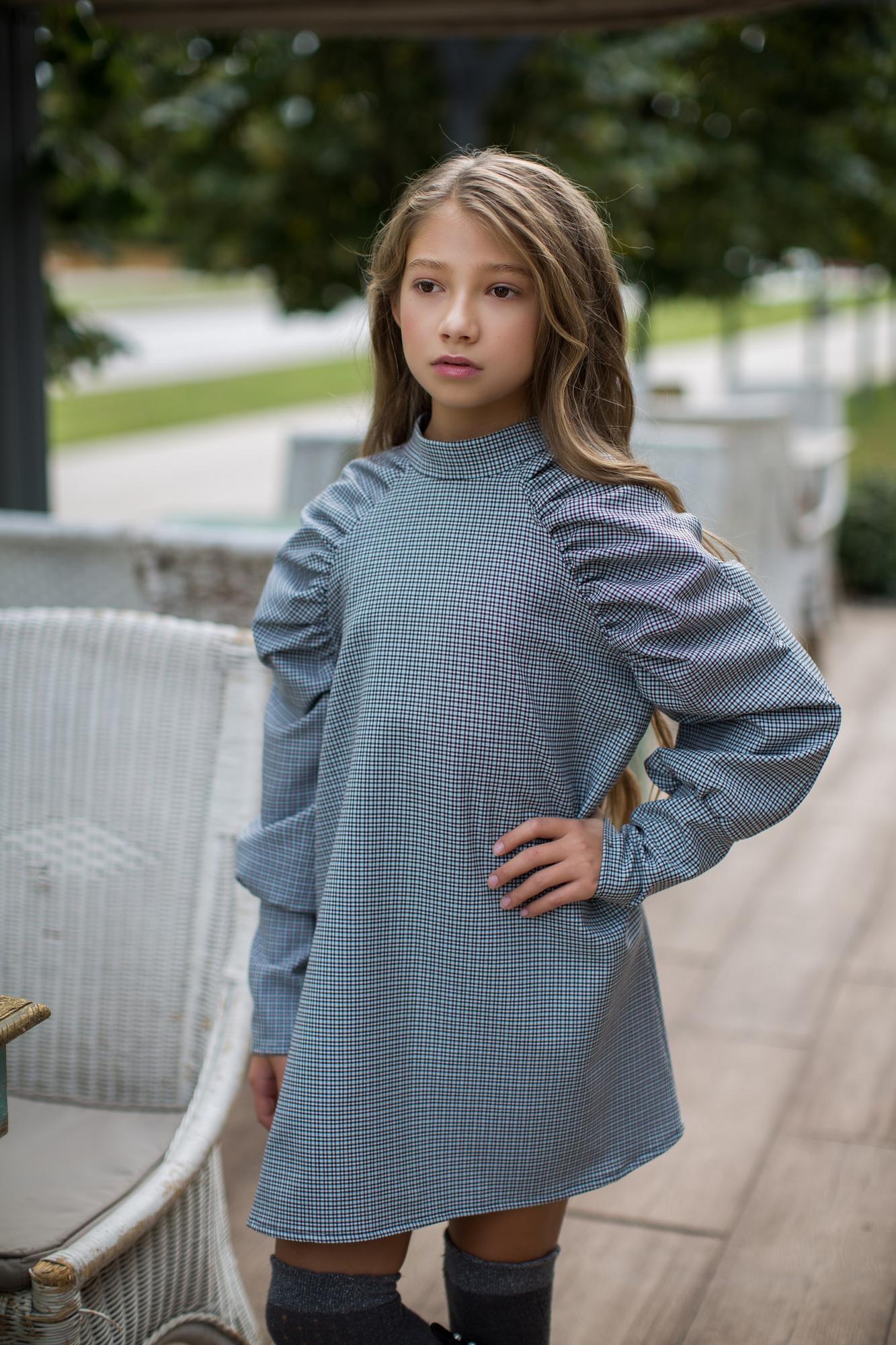 Sukienka z bufkami - Domino.little.dress