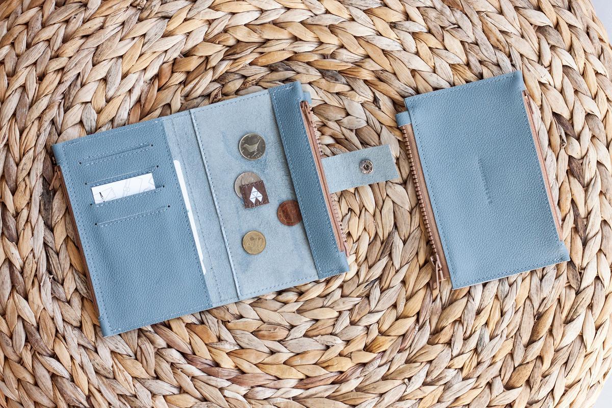 Portfel Pocket BIG Blue - Alicja Getka lab