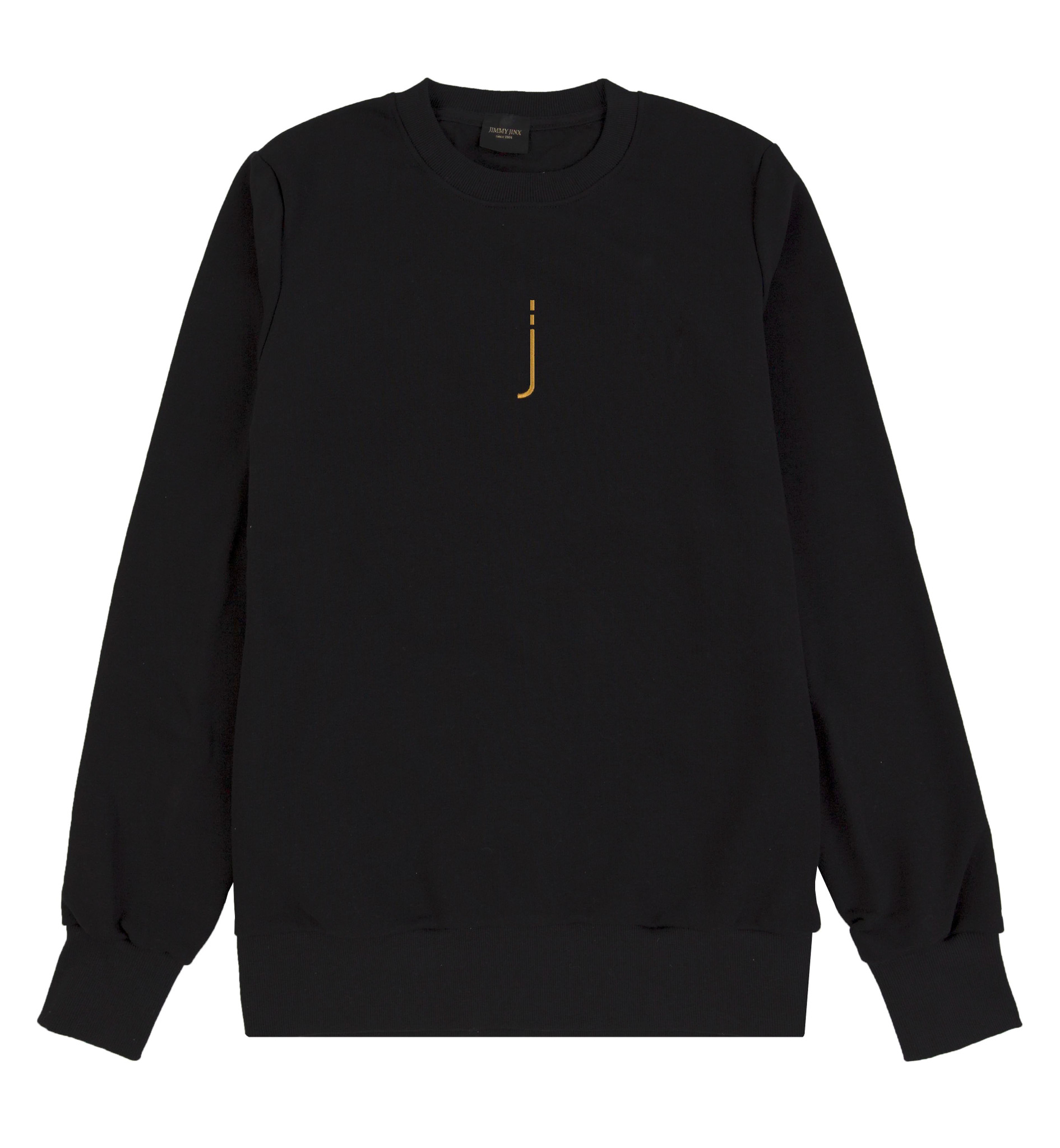 Czarna bluza unisex CREWNECK J BLACK - Jimmy Jinx