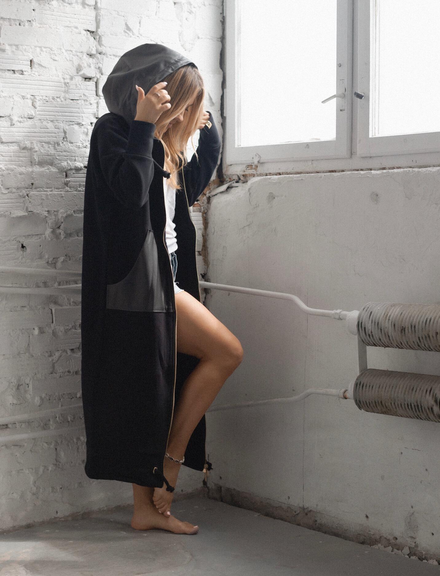 Bluza/Płaszcz QR Black - RUUDE   JestemSlow.pl