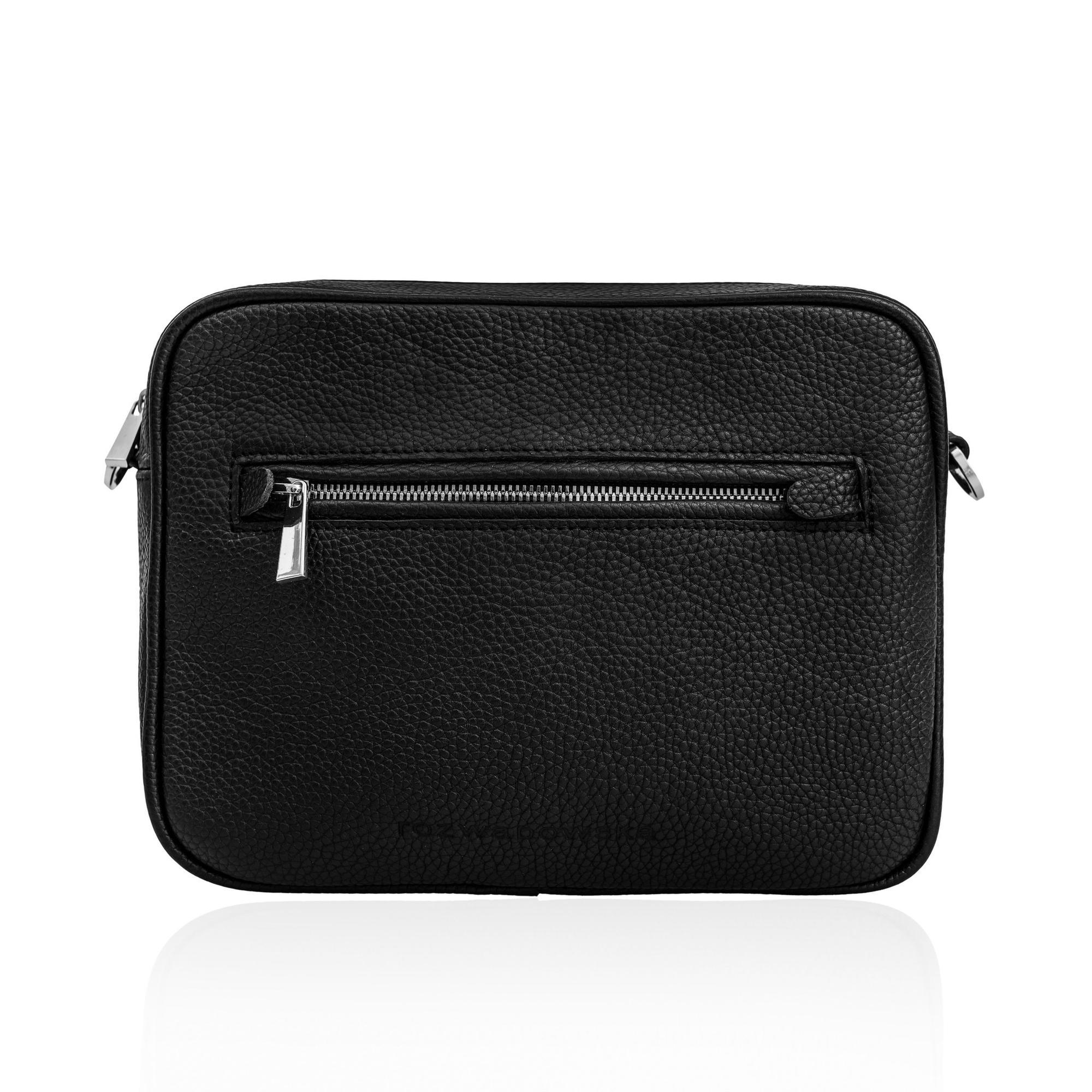 Czarna torebka ze BOXY BAG BLACK - Rozwadowska Bags