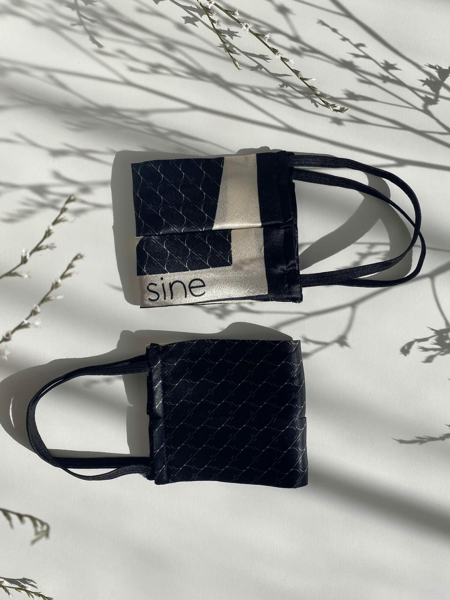 Jedwabna maseczka Sine Silk   BLACK - Sine Silk   JestemSlow.pl