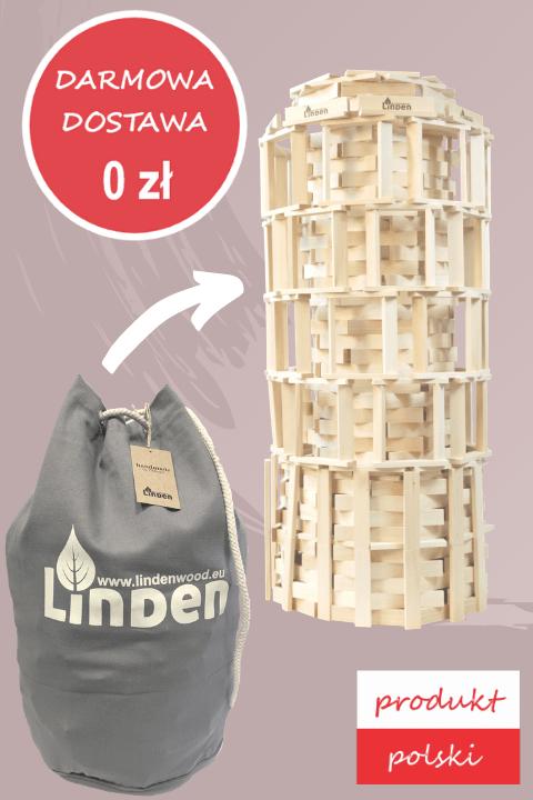 Zestaw klocków drewnianych Linden w worku żeglarskim - Klocki Linden | JestemSlow.pl