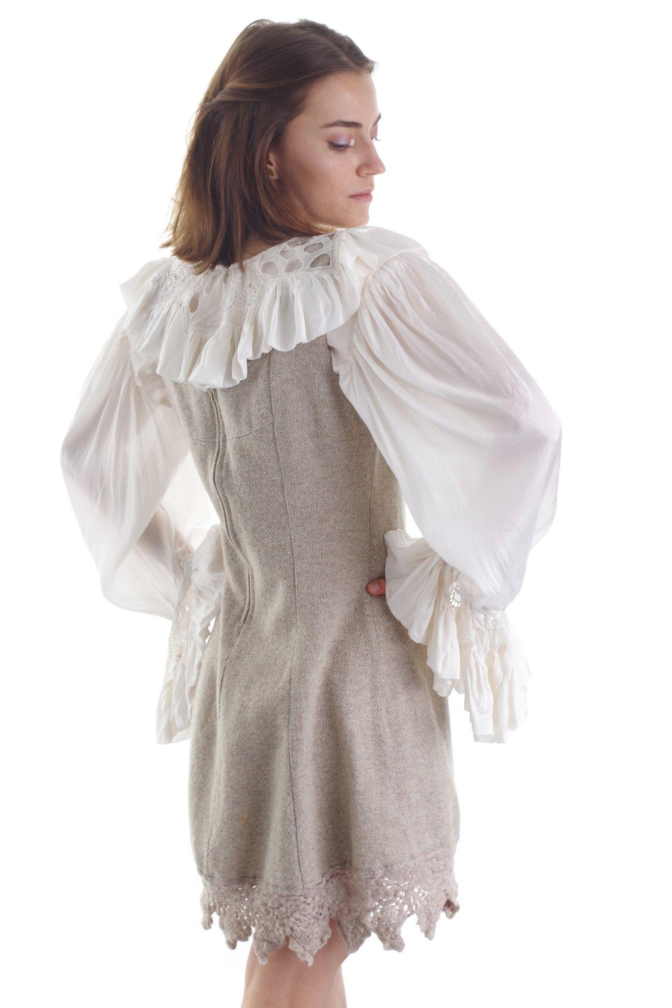 Wełniana sukienka bez rękawów - KEX Vintage Store | JestemSlow.pl