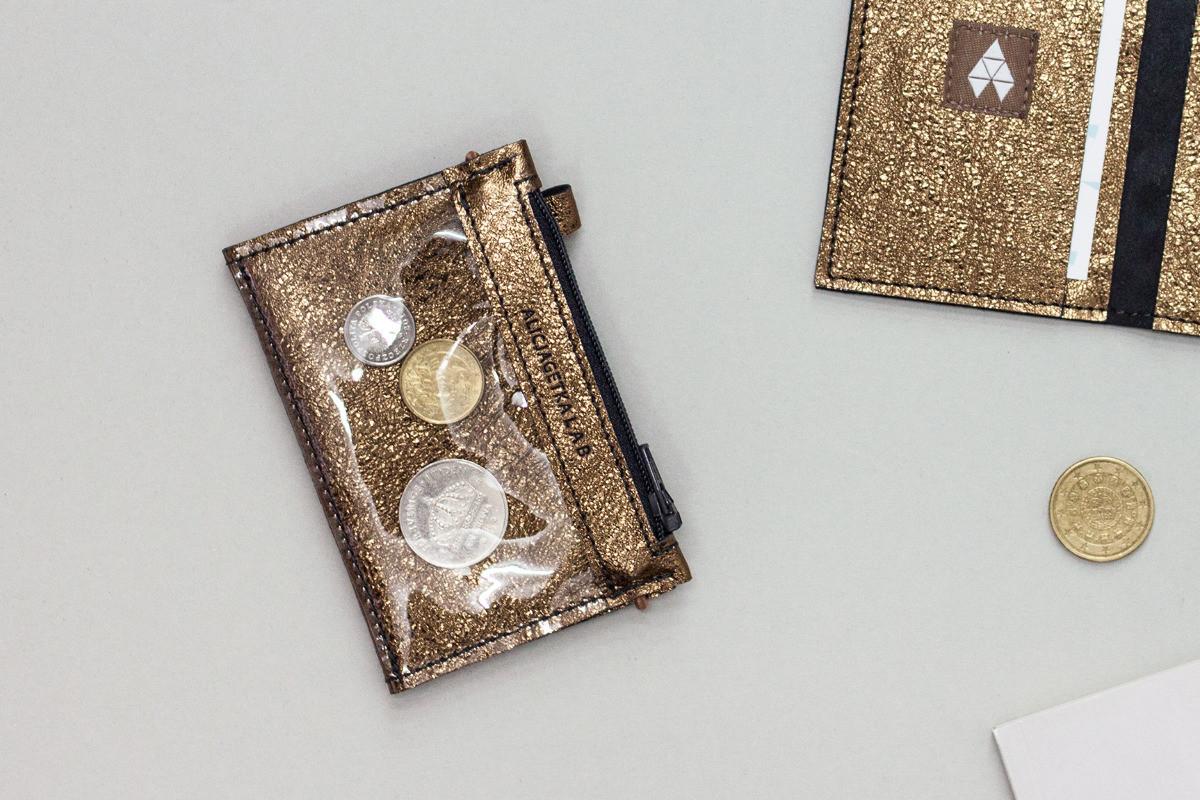 Portfel MIKRO +- Old Gold - Alicja Getka lab