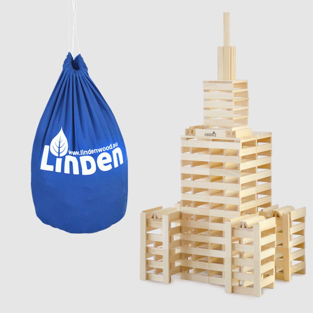 Zestaw klocków drewnianych Linden w ekologicznym worku - Klocki Linden   JestemSlow.pl
