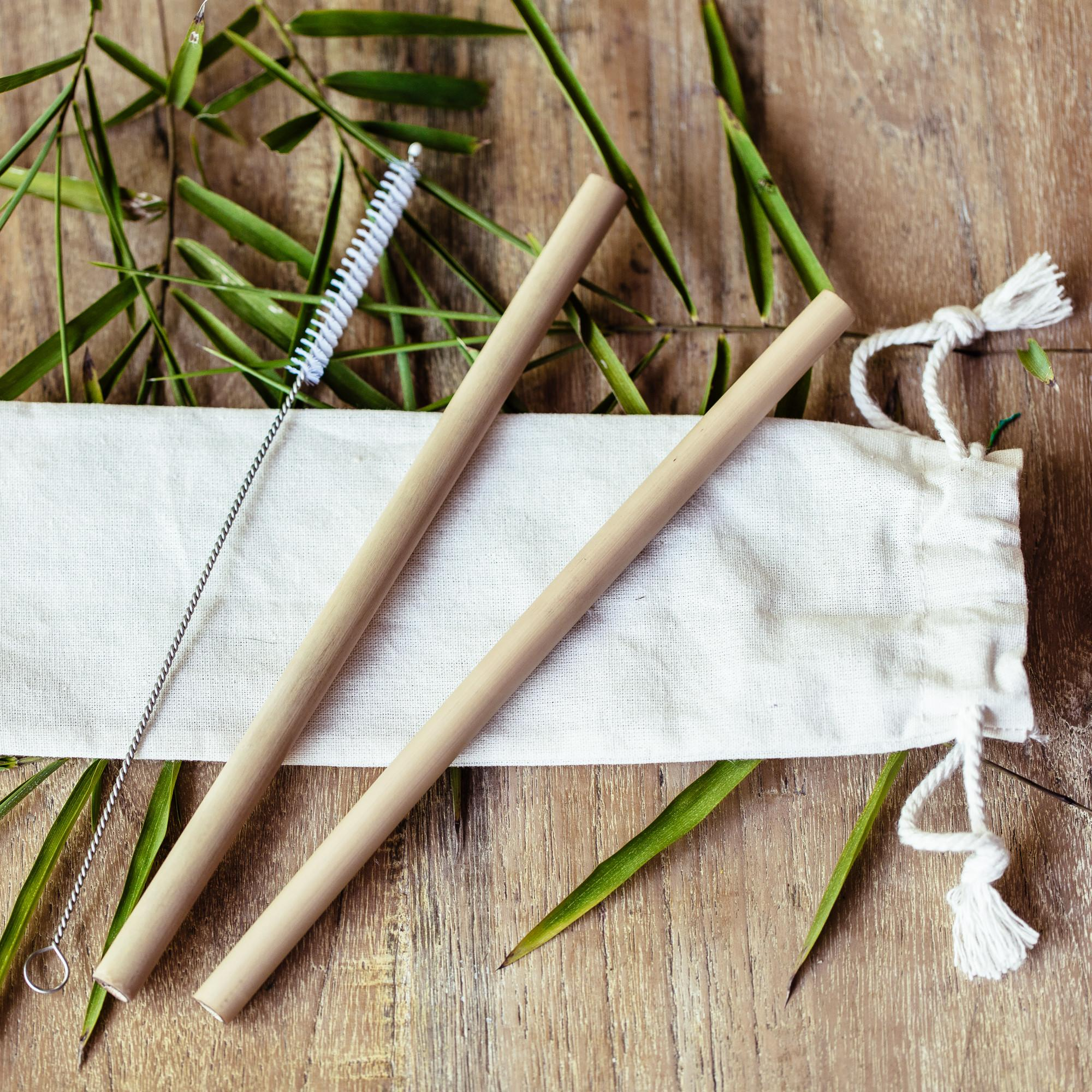 Bambusowe słomki do napojów - 2 sztuki - COCOBAMBOO