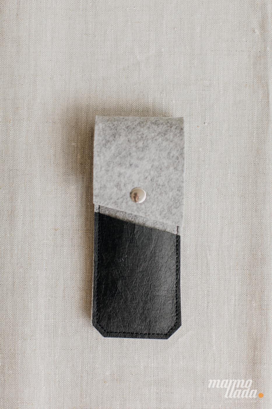 marmollada - etui filcowe NA DŁUGOPISY z czarnymi dodatkami - Marmollada