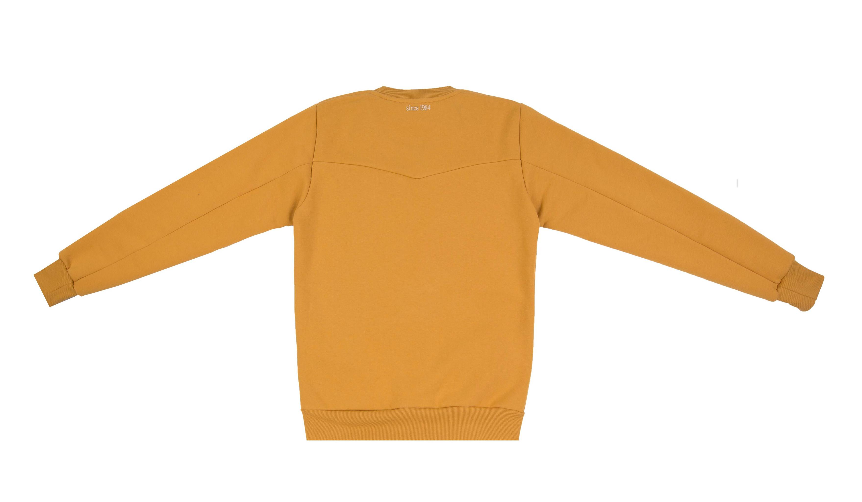 Bluza unisex brązowa ruda złota miodowa CREWNECK LOGO HONEY - Jimmy Jinx