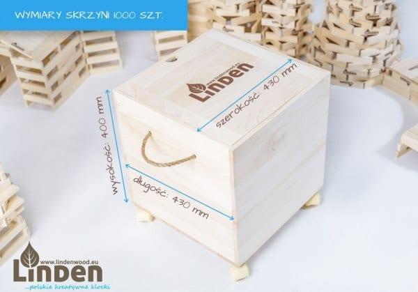 Zestaw klocków drewnianych Linden w skrzyni - Klocki Linden | JestemSlow.pl