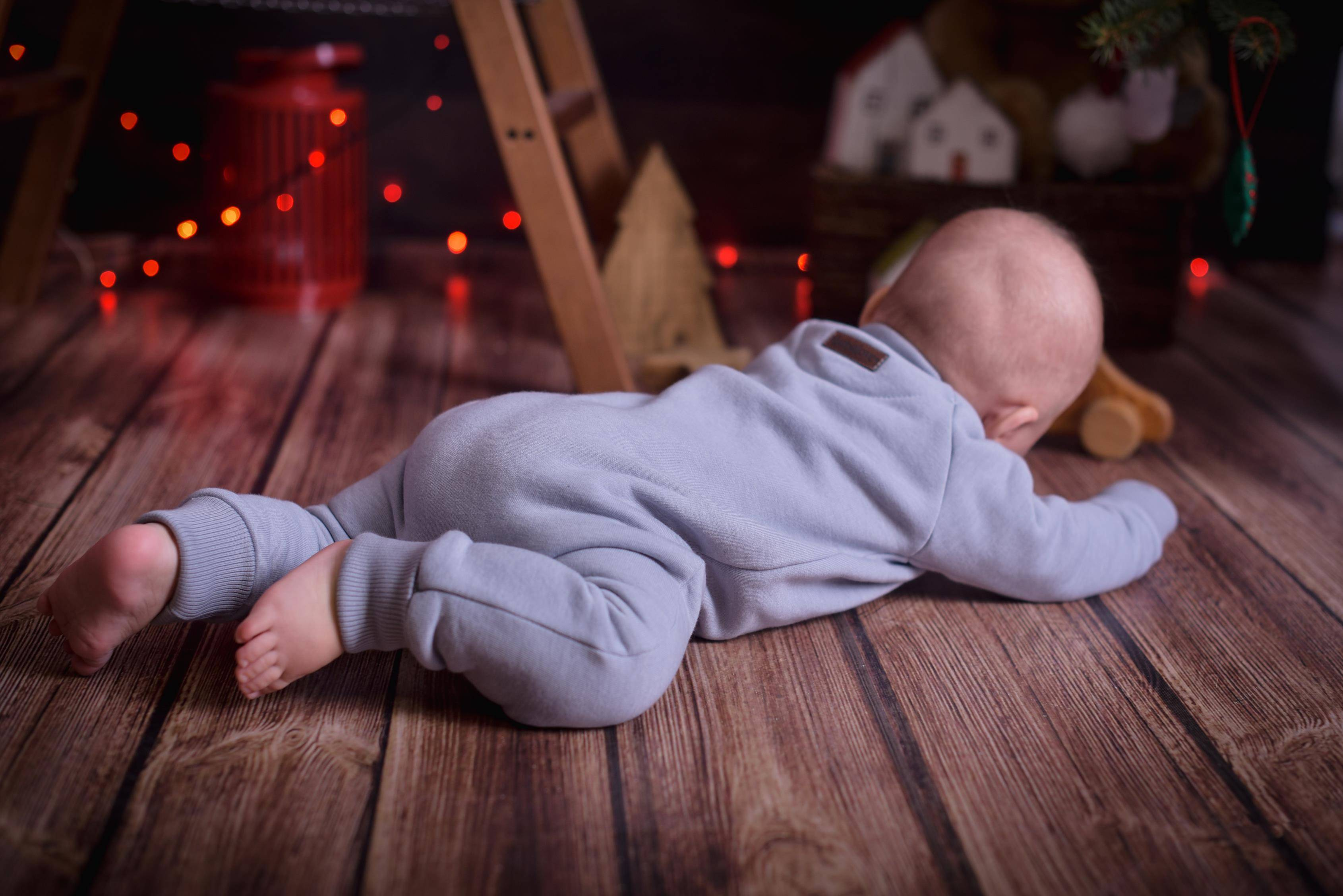Dziecięcy kombinezon bawełniany jednoczęściowy-jasnoszary - Bubalove