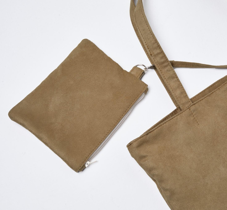 Beżowa torba z zamszu / shopper camel - Lootbag