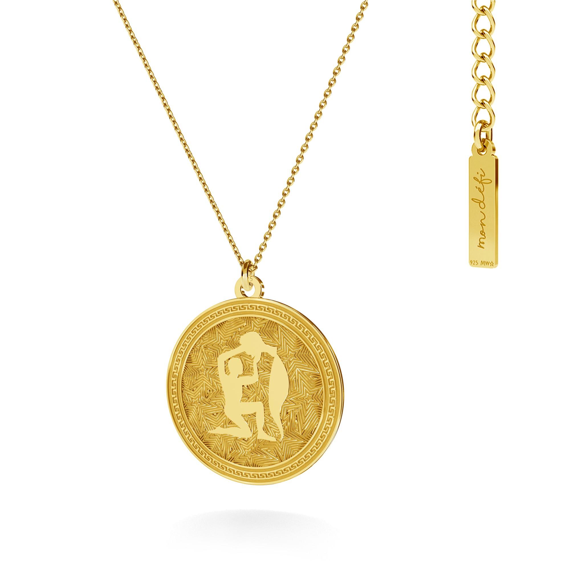 Srebrny naszyjnik znak zodiaku - wodnik, 925 - MON DÉFI - Mon Defi | JestemSlow.pl